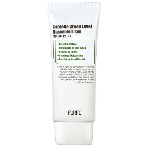 Purito Centella Green Level Illatanyagmentes Fényvédő SPF50 PA++++